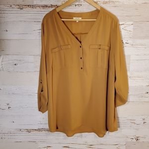 Maurices half button down blouse
